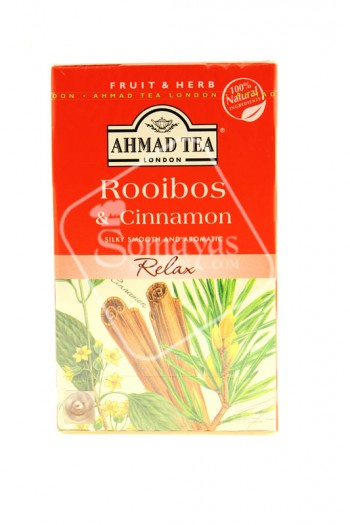 Ahmad Tea Rooibos & Cinnamon Tea Bags HPS ONLY