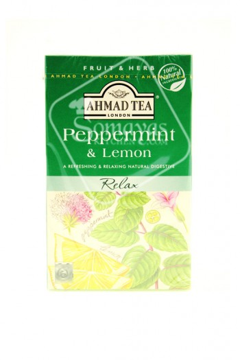 Ahmad Tea Peppermint & Lemon Tea Bags HPS ONLY