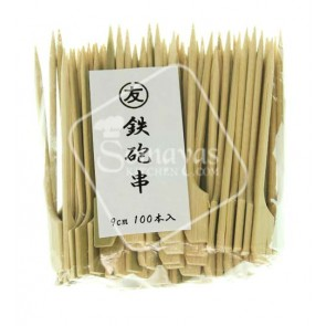 Bamboo Skewers For Food Contact/Teppougushi  9cm (100pc)