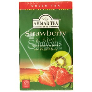 Ahmad Tea Strawberry & Kiwi Flavoured Green Tea