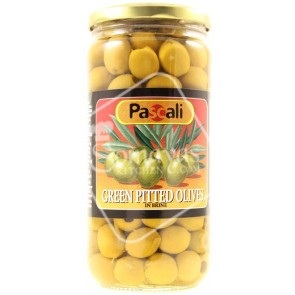Pascali Green Pitted Olives In Brine (665g)