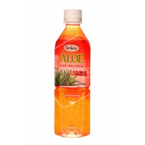 Grace Aloe Vera Strawberry Flavour Drink (500ml)