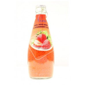 Niru Basil Seed Drink With Strawberry Flavor (290ml)
