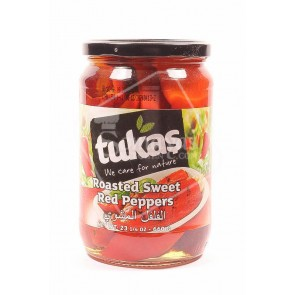 Tukas Roasted Sweet Red Peppers (660g)