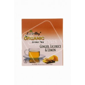 Eco Valley Green Tea With Ginger, Licorice & Lemon 42.5g