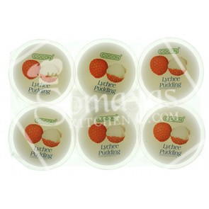Cocon Lychee Jelly Pudding With Coconut Gel Pieces 6x80g